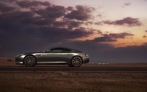 Картинка Aston Martin, DB9, Dubai, Side, Supercar