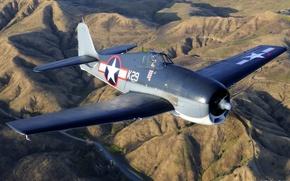 Обои Grumman, over Chino, F6F-3, Hellcat