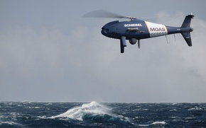 Обои sky, sea, camera, wave, UAV, drone, unmanned aerial vehicle, Shiebel, Austrian unmanned aerial vehicle, MOAS, ...