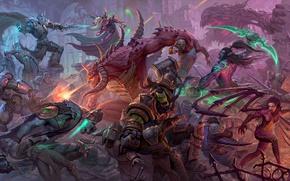 Картинка Heroes of the Storm, sarah kerrigan, warcraft, diablo, starcraft, Kael'thas, thrall, tychus, illidan stormrage, Zeratul