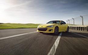 Обои yellow, BRZ, car, машина, авто, небо, субару, Subaru
