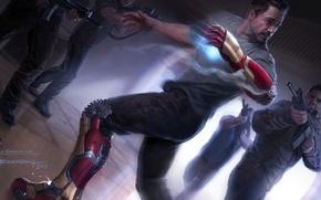 Обои Iron Man 3, Железный человек 3, Tony Stark, Robert Downey Jr, Роберт Дауни мл