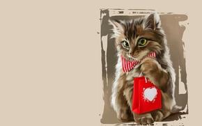 Картинка кошка, подарок, арт, котёнок, детская