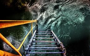 Картинка вода, лестница, water