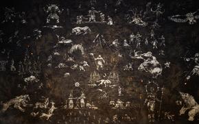 Картинка поверхность, креатив, стена, текстура, живопись, зверей, боке, wallpaper., стихий, good idea, beautiful background, наскальная, первобытных, …
