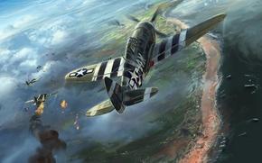 Картинка WW2, P-47 Thunderbolt, Energo5, Aviation Art