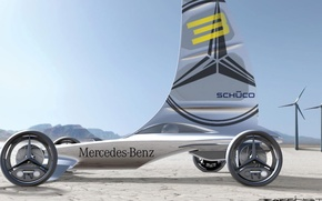 Картинка concept, mercedes-benz, electric, vehicle, formula zero racer