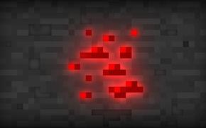 Картинка minecraft, майнкрафт, красный камень, redstone