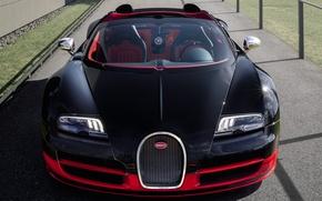 Картинка Roadster, Машина, Бугатти, Bugatti, Вейрон, Veyron, Car, Автомобиль, Cars, Grand Sport, Гранд Спорт, Vitesse, Родстер, …