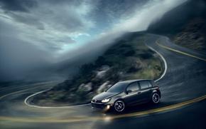 Обои дорога, Volkswagen, розмытие