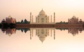 Картинка замок, Индия, памятник, храм, Taj Mahal, Тадж Махал, Agra, India, casstle, Pradesh