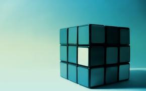 Картинка синий, грани, Кубик Рубика