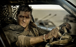Картинка постапокалиптика, Том Харди, Tom Hardy, Mad Max, Fury Road, Безумный Макс, дизельпанк, Дорога ярости