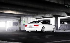 Картинка Audi, white, wheels, vossen