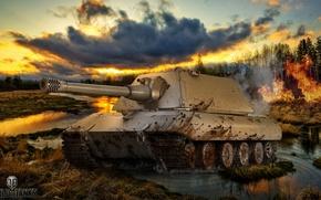 Картинка игры, оружие, game, weapon, world of tanks, мир танков, tank, Е-100