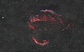 Картинка туманность, в созвездии, диффузная, Лебедя, Вуаль