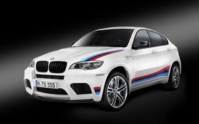 Картинка белый, бмв, BMW, черный фон, X6 M, E71