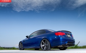 Картинка дорога, небо, синий, бмв, BMW, blue, vossen
