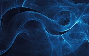 Обои Чёрный фон, VladStudio, Синие линии