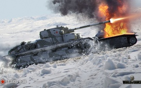 Картинка WoT, Мир танков, советский, World of Tanks, Wargaming, танк, Art, Т-28Э