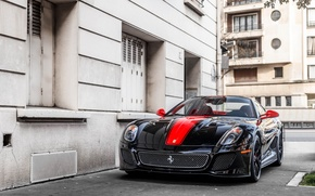 Картинка red, black, 599, gto, Ferarri