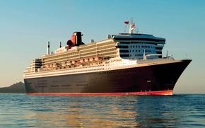 Обои пароход, корабль, вода, Queen Mary, судно