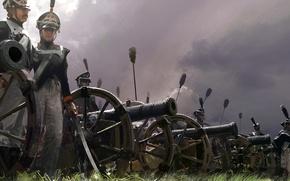 Картинка утро, арт, солдаты, сражение, живопись, русская, артиллерия, бою, 1812г., Отечественной войны, крупнейшее, Battle Of Borodino, …