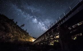 Картинка космос, звезды, мост, млечный путь