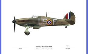 Обои WWII, 151 squadron hurricane, WW2