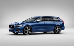 Обои вольво, S90, фон, Volvo, универсал