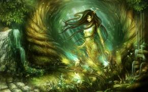 Картинка лес, природа, эльф