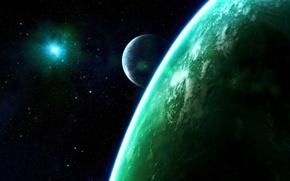 Обои вселенная, планеты, звезды, взрыв сверхновой