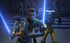 Картинка герои, animated series, Star Wars Rebels, Звездные войны Повстанцы, Ezra Bridger, Kanan Jarrus