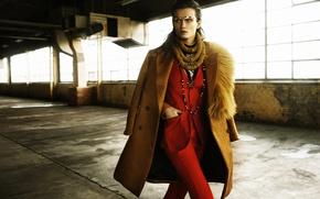 Картинка девушка, модель, пальто, деловой костюм, Katerina Netolicka