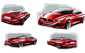 Картинка бмв, BMW, белый фон, седан, F30, Sedan, 3-Series
