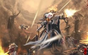 Картинка оружие, девушки, арт, броня, битва, warhammer 40k, Sister of Battle