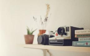 Картинка cameras, books, Polaroid, Pentax