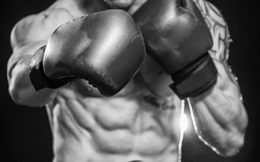 Картинка boxing, gloves, abs