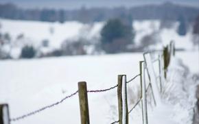 Картинка winter, fence, wire