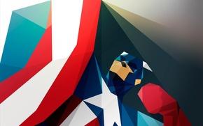 Картинка арт, капитан, америка, супергерой, art, america, captain, superhero