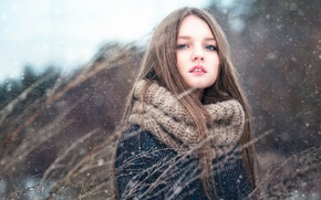 Картинка девочка, Полина, снег