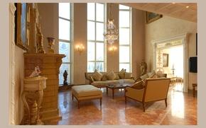 Картинка комната, стиль, интерьер, гостиная, дом-замок, дизайн