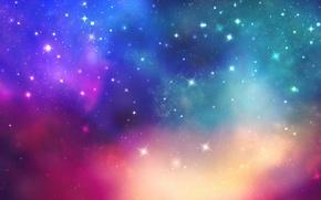 Картинка космос, звезды, свет, краски, colors, space, light, stars, 1920x1080