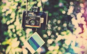 Картинка огни, фото, фон, настроения, фотоаппарат, разбито, трещина, снимок, HD wallpapers, обои для рабочего стола, полароид, …