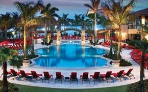 Картинка luxury swimming pool, курорт, бассейн