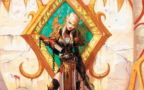 Картинка маг, книга, WoW, World of Warcraft, эльфка