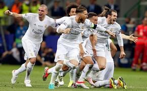 Картинка радость, счастье, футбол, победа, команда, форма, футболист, кубок, игроки, football, игрок, champions league, чемпионы, Реал …