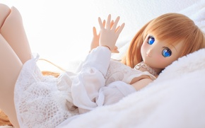 Картинка игрушка, кукла, голубые глаза
