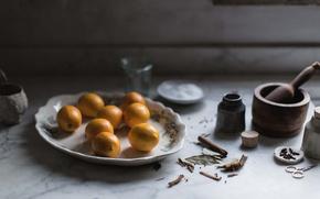 Картинка lemon, spices, preserve