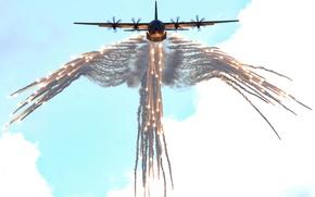 Картинка США, Lockheed, Геркулес, Самолёт, Hercules, Локхид, C-130, Военно-транспортный